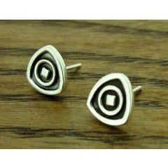 Trillon Silver Stud Earrings