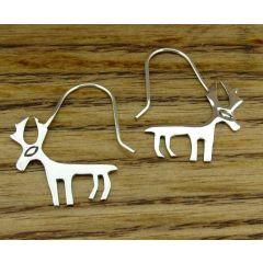 Silver Moose Earrings