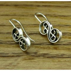 Mirrored Spiral Silver Earrings
