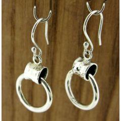 Buckled Loop Silver Earrings