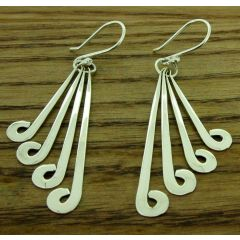 Silver strands Chinato earrings