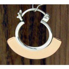 Copper & Silver Hoop