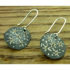 Oxidised Star Silver Earrings