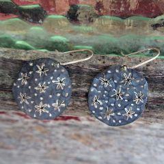 Starry Night Silver Earrings