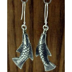 Chang Mai Fish Silver Earrings