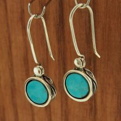 Turquoise Ivy Silver Earrings