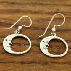 Moon Silver Earrings
