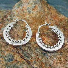 Bolitas Silver Hoop Earrings