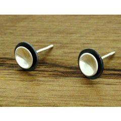 Eclipse Silver Stud Earrings