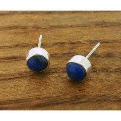 Lapis Lazuli 6mm Stud Earrings