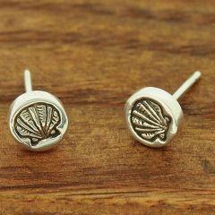 Shell Silver Stud Earrings