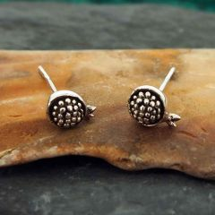 Pomegranate Silver Stud Earrings