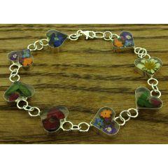 Heart Silver Flower Bracelet