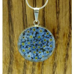 Forget-me-not Silver Flower Pendant Large