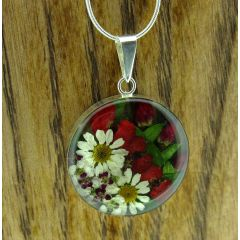Circle Flower Silver Pendant (Large) (209)