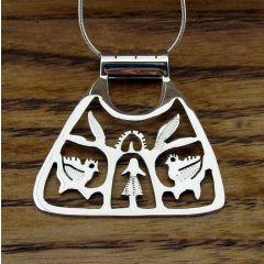Triangular Tree of Life Silver Pendant