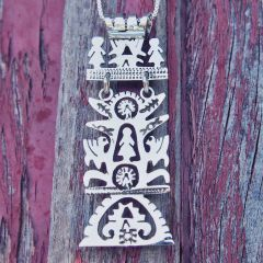 Unusual Tree of Life Silver Pendant