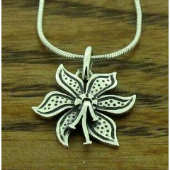 Lily Flower Silver Pendant