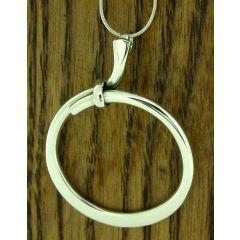 Swirled Circle Silver Pendant