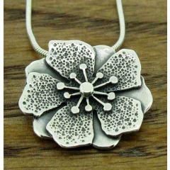 Anemone Silver Pendant (266)