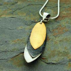 Three Leaves Silver Pendant