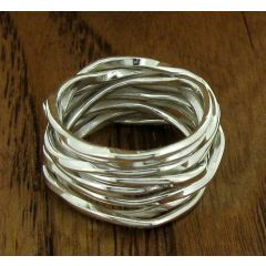 Knotted Silver Band Ring