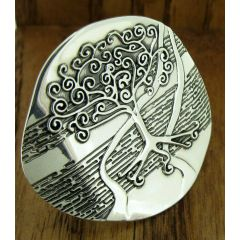 Swirly Tree Silver Ring