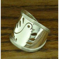 Dove Silver Bird Ring (193)
