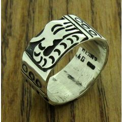 Mayan Serpent Silver Ring