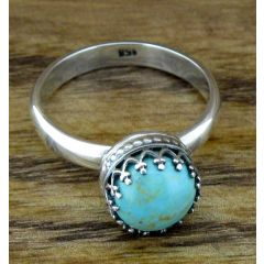 Oriental Turquoise Silver Ring