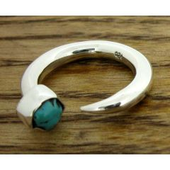 Turquoise Tusk Silver Ring
