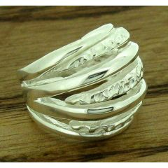 Woven Strands Silver Ring