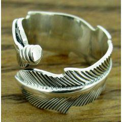 Pluma Silver Ring