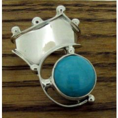 Zeppelinistic Turquoise Polished Silver Ring