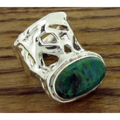One of a Kind Chrysocolla Silver Ring