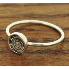 Ammonite Silver Ring