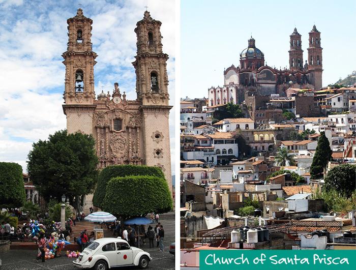 Church of Santa Prisca - Taxco - Silver Bubble Jewellery